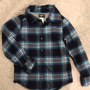 NWOT Size 6 Oshkosh Button down flannel shirt
